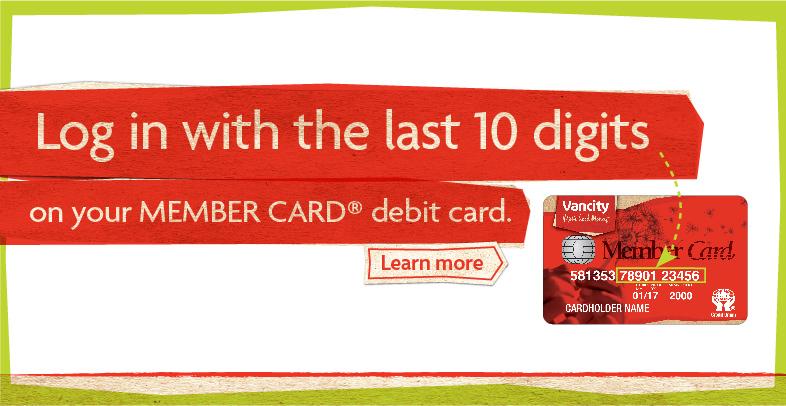 Vancity Online Personal Banking