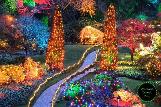 Butchart Gardens during their Christmas display