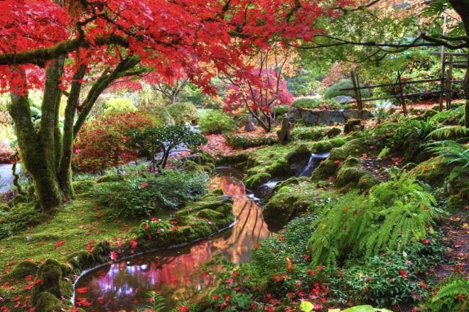 Fall at The Butchart Gardens.