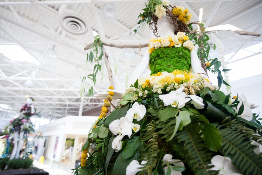 Fleurs de Villes event - combining fashion and flowers in Victoria.