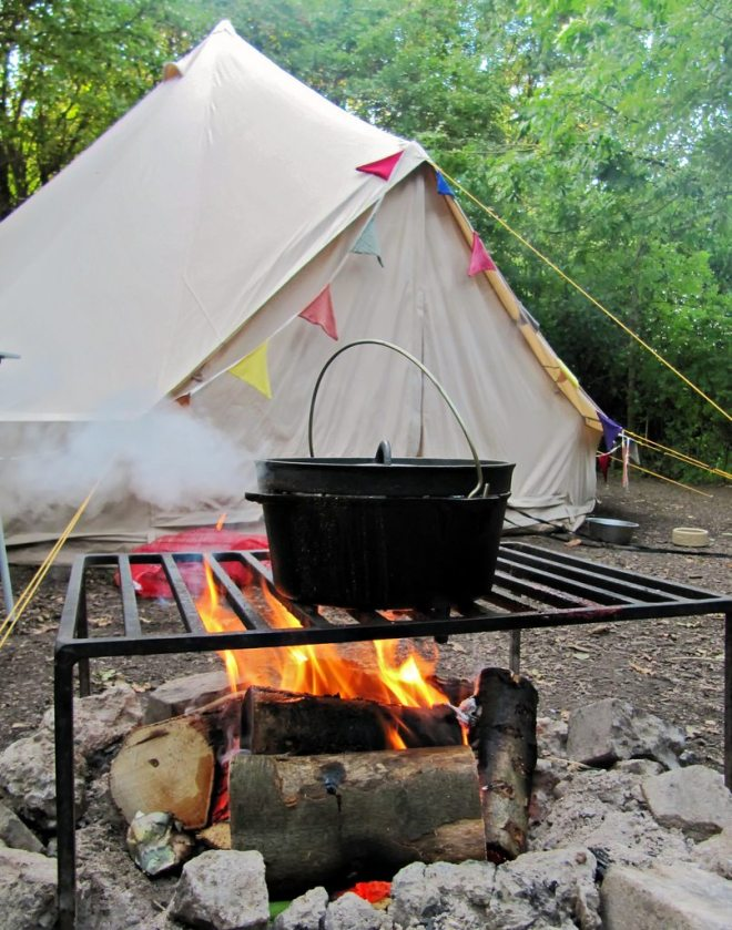 glamping camping with kids