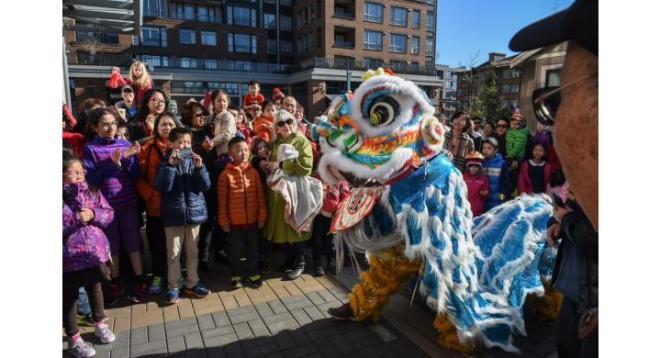 Lion Dance Lunar New Year at Wesbrook Village