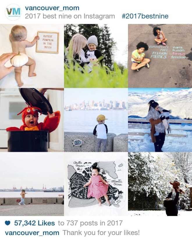 Top Instagrams of 2017 by Vancouver Moms
