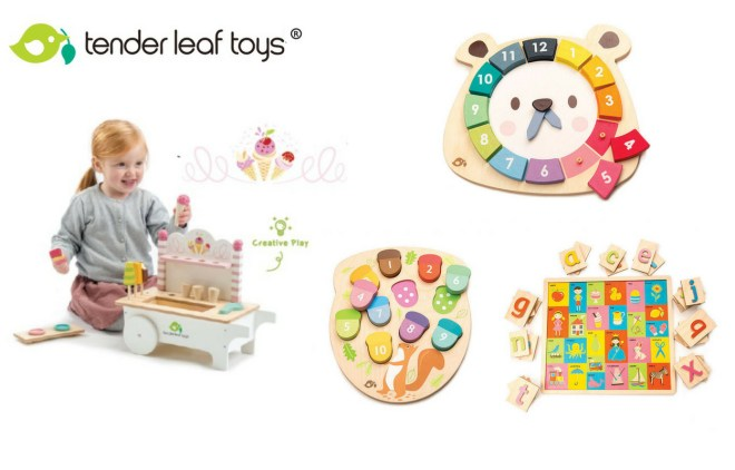 Wooden toys by Tender Leaf