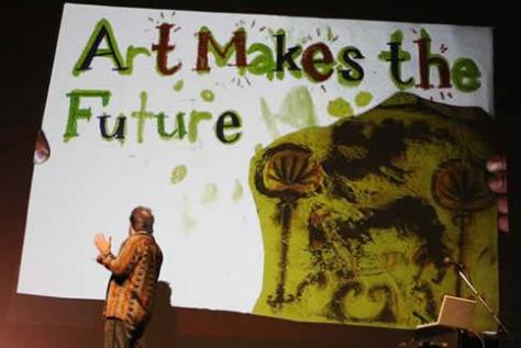 Dave Olson at Pecha Kucha - photo by Jonathan Hanley