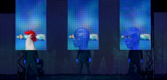 Created, written and directed by Matt Goldman, Phil Stanton and Chris Wink. Blue Man Group continues at the Queen Elizabeth Theatre through March 30.