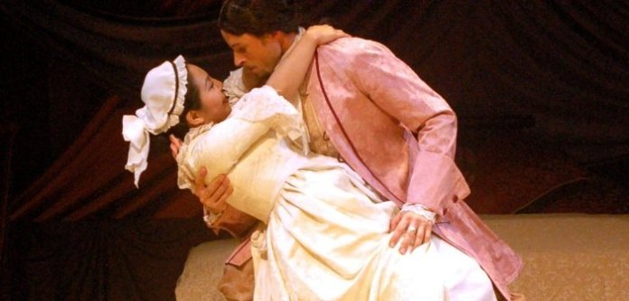 Mayumi Yoshida and Patrick Spencer in the United Players production of The Marriage of Figaro.