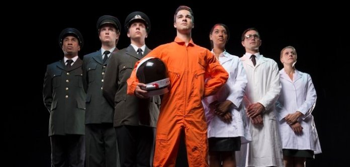 The cast of Kosmic Mambo prepares for their mission to Mars in October. Photo by David Cooper.