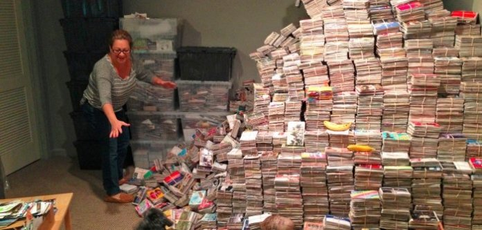 The pyramid of secrets at PostSecret creator Frank Warren's home.