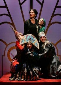 Diane Brown (center) as Wallis Simpson. Photo by Tim Matheson.