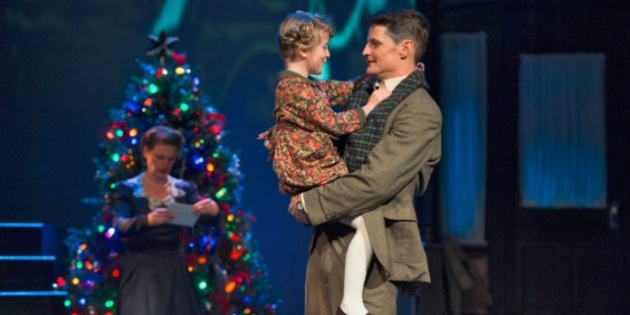 Sylvie Odette Thomas and Bob Frazer in the Arts Club Theatre Company production of It's A Wonderful Life. Photo by David Cooper.