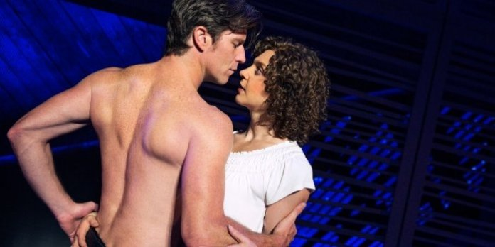Christopher Tierney as Johnny and Gillian Abbott as Baby in the North American tour of Dirty Dancing. Photo by Matthew Murphy.