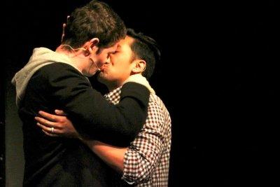Matt Montgomery and Jesse Alvarez in Facing East. Photo by Allyson Fournier.