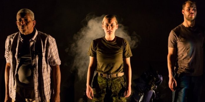 Tom Pickett, Siona Gareau-Brennan and Kyle Jespersen in 2017 production of The Fighting Season. Photo by Javier R. Sotres.