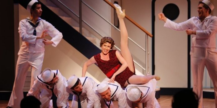 Laura Ross is delicious and delightful as the mob moll Erma. Photo by Tim Matheson.