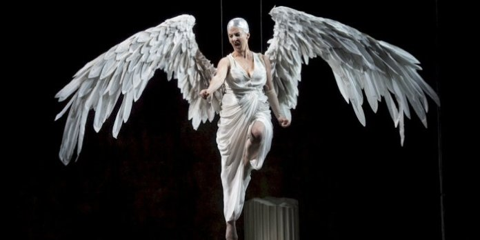Lois Anderson in Angels in America, Part Two: Perestroika. Photo by David Cooper