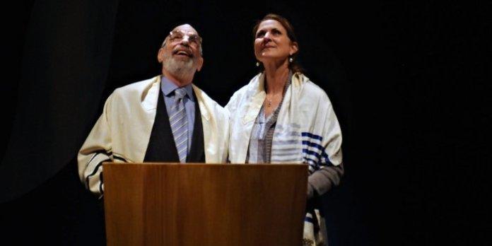 Richard Newman and Gina Chiarelli in Mark Leiren-Young's new comedy, Bar Mitzvah Boy. Photo by Damon Calderwood.