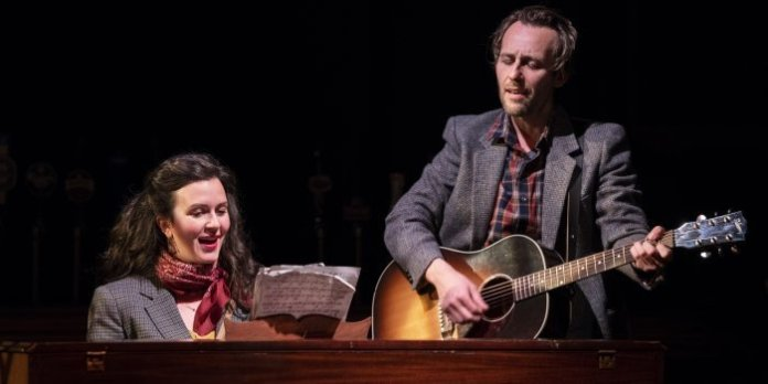 Gili Roskies and Adrian Glynn McMorran in the Arts Club Theatre Company production of Once. Photo by Emily Cooper.
