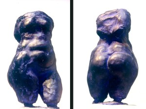 abstract sculpture of female body