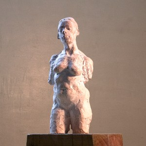 plaster sculpture of female torso by Geemon Xin Meng