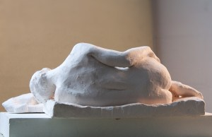 sculpture of sleeping woman by Geemon Xinmeng