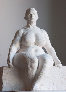 Study for monumental sculpture of sitting female figure by Geemon Xin Meng