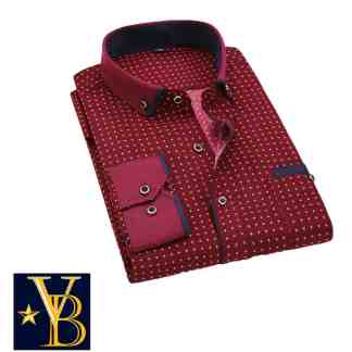 red patterned shirt, patterned shirt, dress shirt