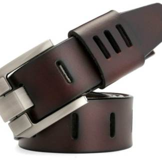 brown modern leather belt
