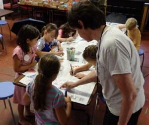 Vanderbilt educator works with children on creative projects
