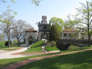 Vanderbilt Mansion in spring