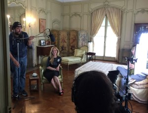 Vanderbilt Museum photo Consuelo Vanderbilt Costin takes a break during a video shoot at the Vanderbilt Mansion for her new jewelry collection