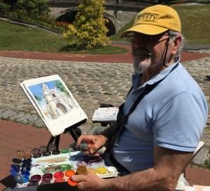 Vanderbilt Museum photo Artist Antonio Masi at Vanderbilt Mansion