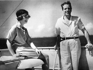 William K. Vanderbilt II and his daughter Consuelo, aboard the Alva, 1931 Vanderbilt Museum archives