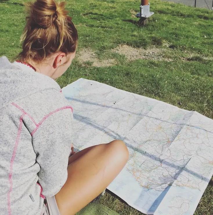 Navigation mit Karte Roadtrip Wohnmobilreise