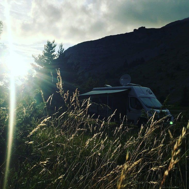 Devoluy Camping Campingbus Van Wohnmobil Roadtrip Rundreise Frankreich Alpen