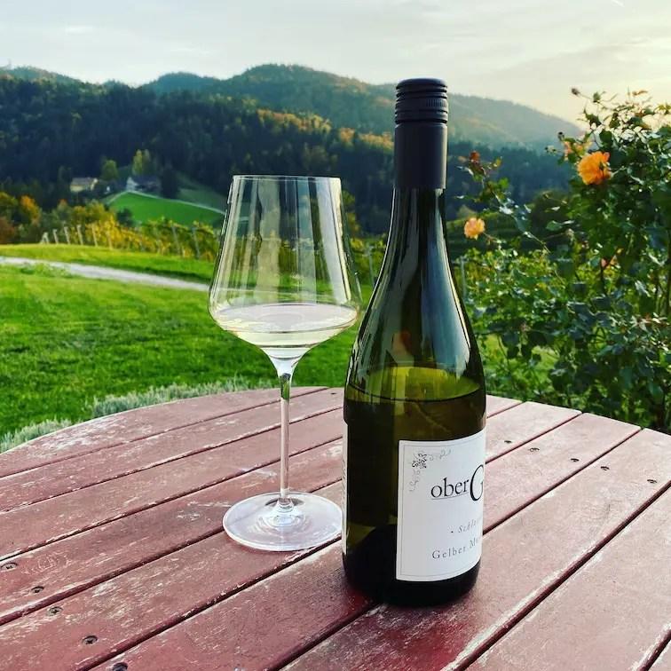 Südsteiermark Oberguess Wein Winzer Riesling Buschenschank Herbst Wohnmobil Weinstraße