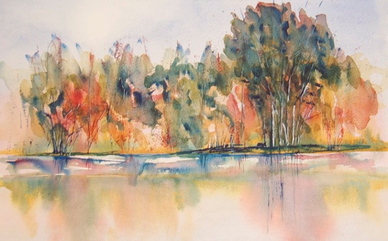Bushveld watercolour reflections