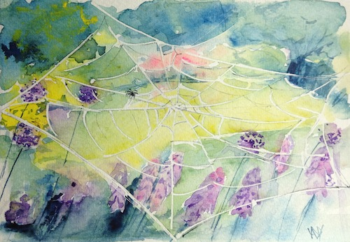 Watercolour card - Charlotte's view