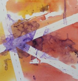 Crossroads (Watercolour 27.5 x 26 cm) Artist: Vandy Massey