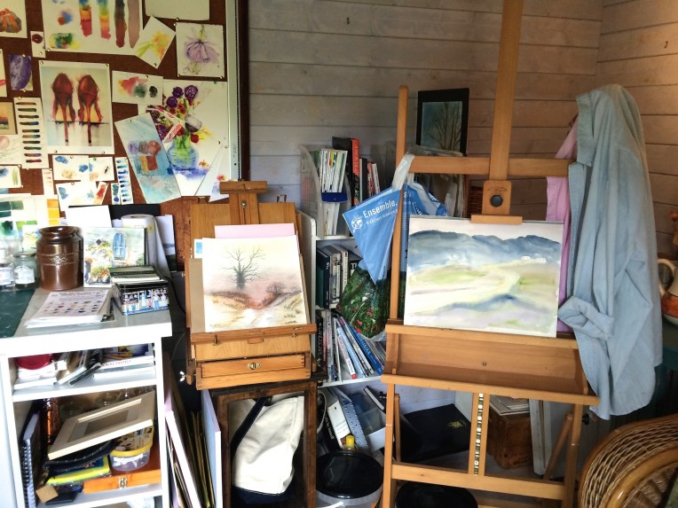 Watercolour plan - tidy the studio
