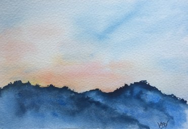 Sunset speed painting 2 - painting Paxos watercolours