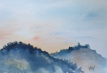 Sunset speed painting 3 - painting Paxos watercolours
