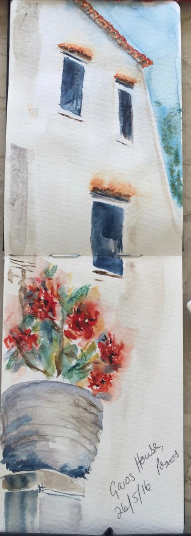 Red flower pot - from my Sketchbook