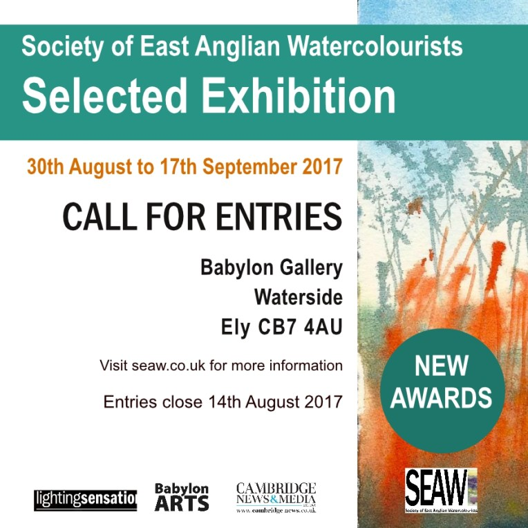 Watercolour painting exhibition www.SEAW.co.uk Call for Entries 2017