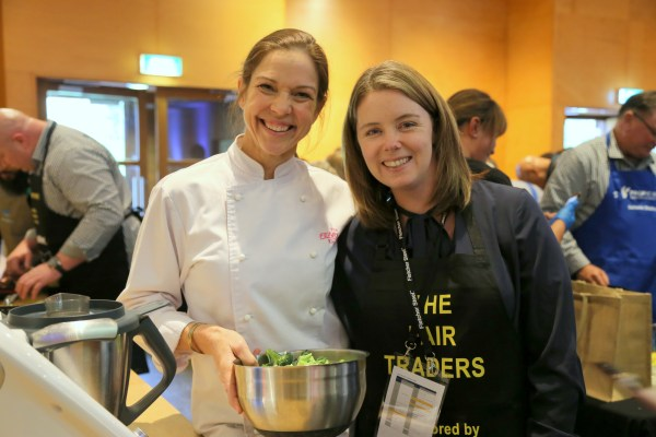cook and give back together