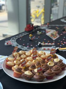 Cupcakes served at an AT Transport Afternoon Tea
