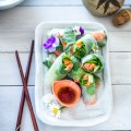 Rice Paper Rolls with Salmon