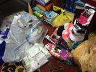 Items donated for the Middle East Mission