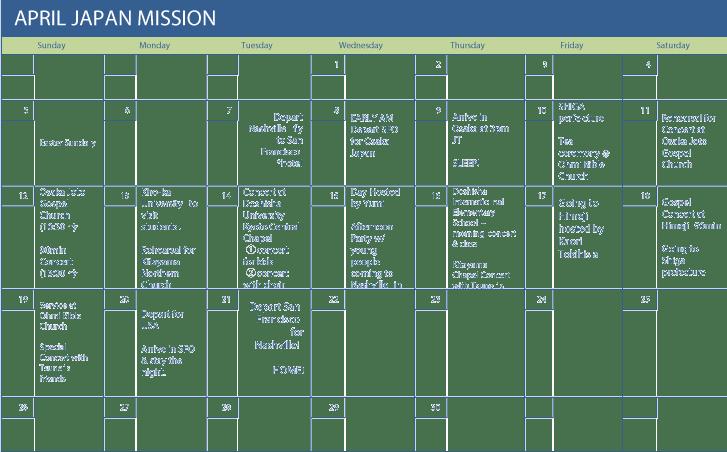 TRIP-schedule