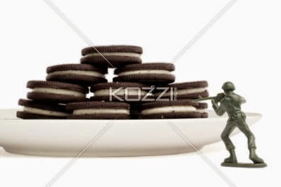 Soldier Aiming On Cookies